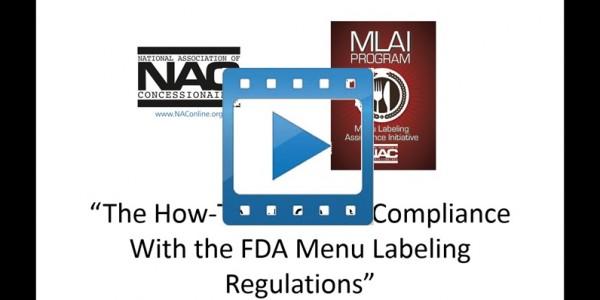 Video – FDA Menu Labeling Webinar