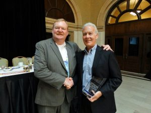 NAC President Terry Conlon, ECM. with Charlie Neary, CCM, 2016 Warner Honoree