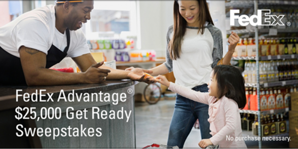 Get winning! Enter the FedEx Advantage $25,000 Get Ready Sweepstakes