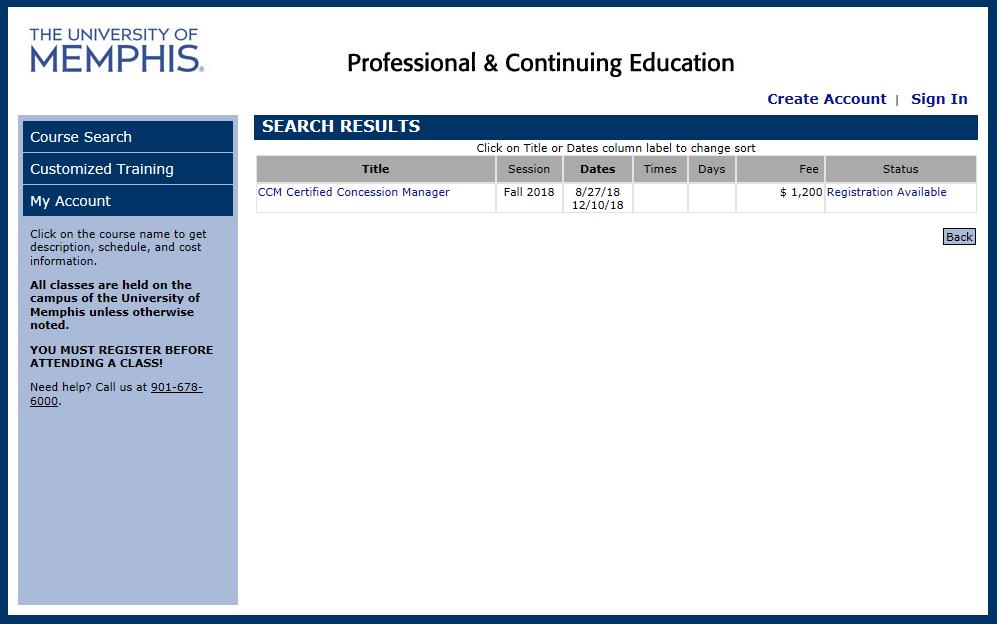 On Line Concession Certification Management Ccm Course National